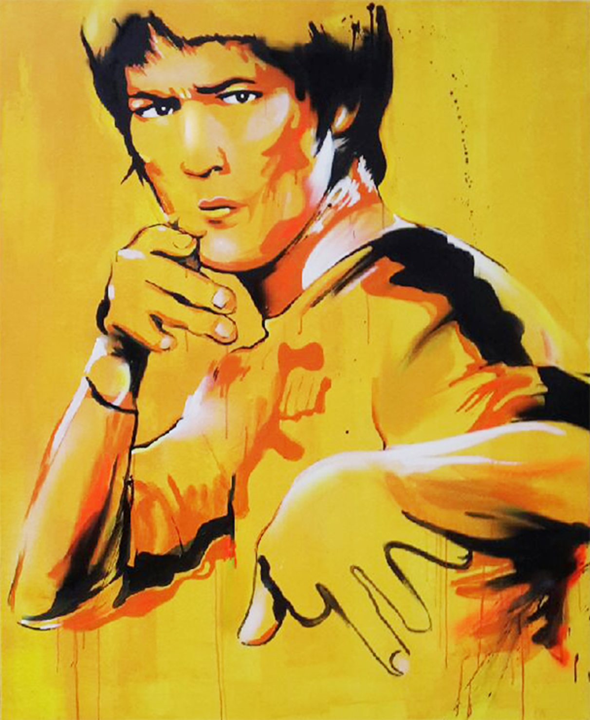 BRUCE - 114x146 cm - 1800€ - Spray paint and acrylic on canvas