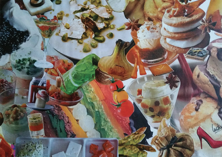 Le Gourmet - 50x40 cm - 750€ - Collages