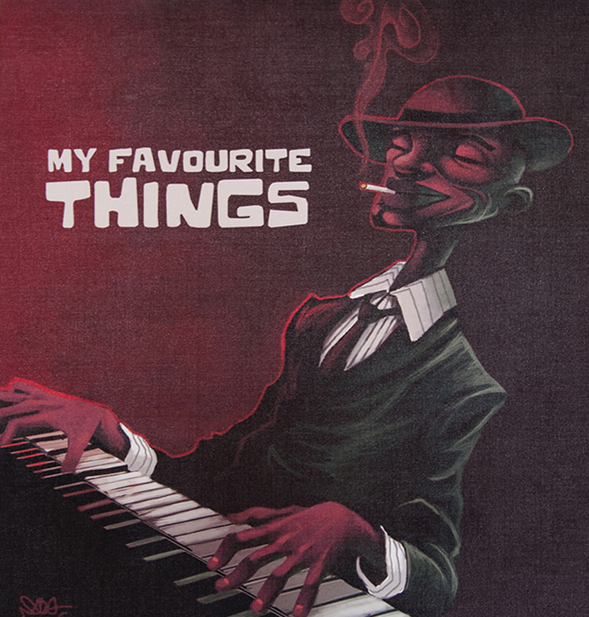 My favourite things - 100x91 cm - 550€ - Digital painting sur canvas