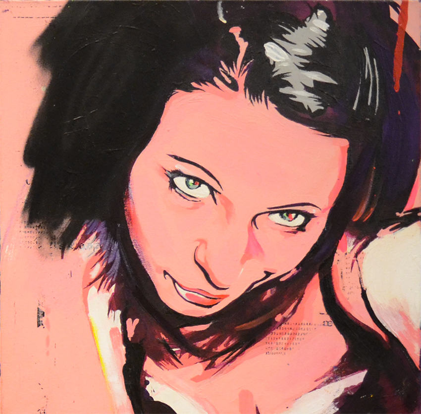 AMY - 50x50 cm - 900€ - Spray paint and acrylic on canvas